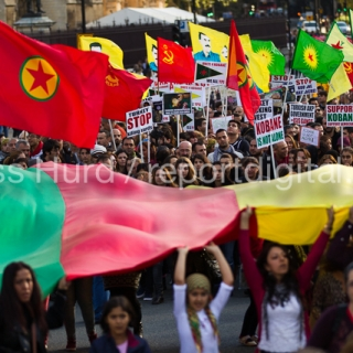 Kurds Protest Against ISIS