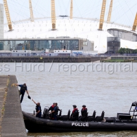 Armed police during a counter terrorism security testing exercise, part of operation Strong Tower. Wood Wharf, nr Canary Wharf in the London Dockands. © Jess Hurd/reportdigital.co.uk