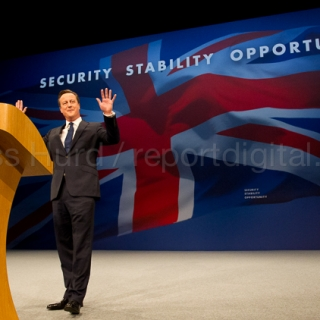 David Cameron, Prime Minister, speaking at Conservative Party Conference, Manchester.© Jess Hurd/reportdigital.co.uk